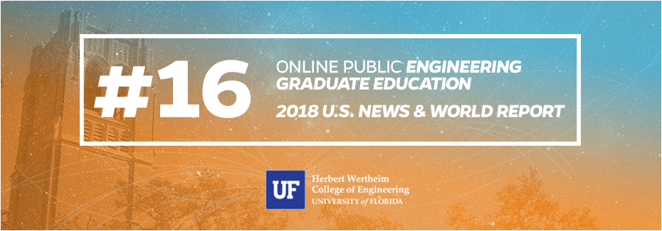 UF ranked #16 in Online Public Engineering Graduate Education by US News & World Report
