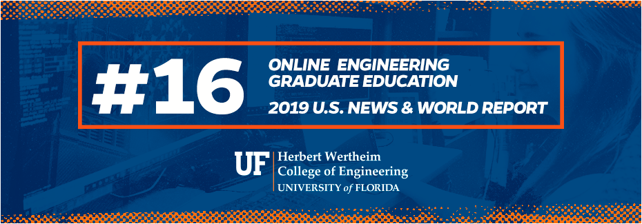 UF ranked #16 in Online Engineering Graduate Education by US News & World Report